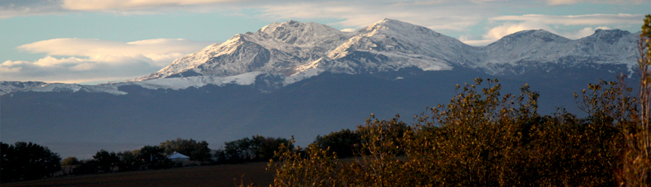 Snowy Pyrenees - View from Domaine